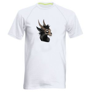 Męska koszulka sportowa Hyena in the skull