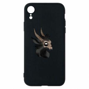 Etui na iPhone XR Hyena in the skull