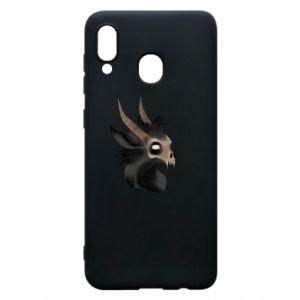 Etui na Samsung A20 Hyena in the skull