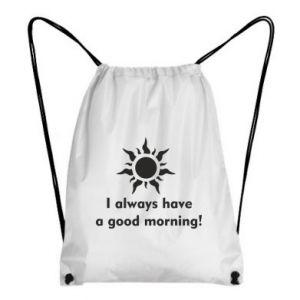 Plecak-worek I always have a good morning