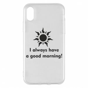 Etui na iPhone X/Xs I always have a good morning