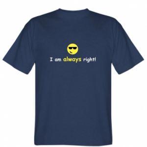 Koszulka męska I am always right!