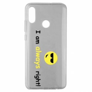 Etui na Huawei Honor 10 Lite I am always right!