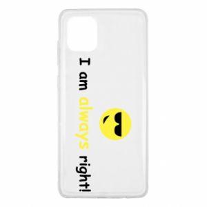 Etui na Samsung Note 10 Lite I am always right!
