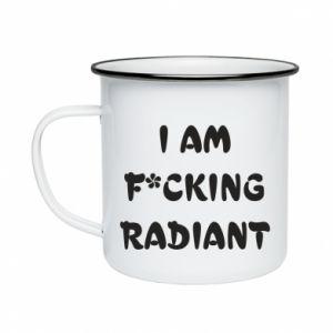 Kubek emaliowany I am fucking radiant