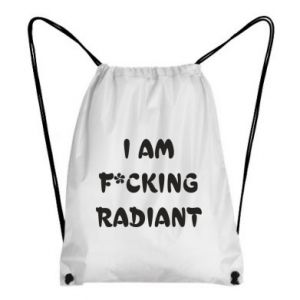 Plecak-worek I am fucking radiant