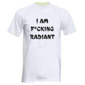 Koszulka sportowa męska I am fucking radiant