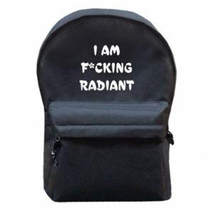 Plecak z przednią kieszenią I am fucking radiant