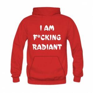 Bluza z kapturem dziecięca I am fucking radiant
