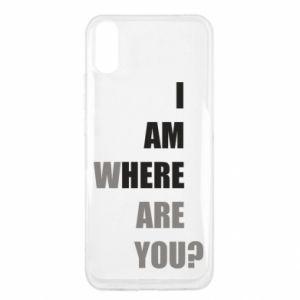 Etui na Xiaomi Redmi 9a I am where are you