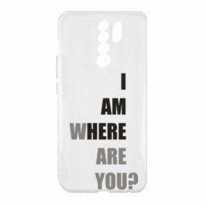 Etui na Xiaomi Redmi 9 I am where are you