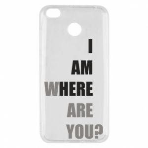 Etui na Xiaomi Redmi 4X I am where are you