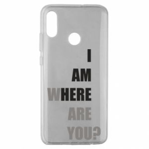 Etui na Huawei Honor 10 Lite I am where are you