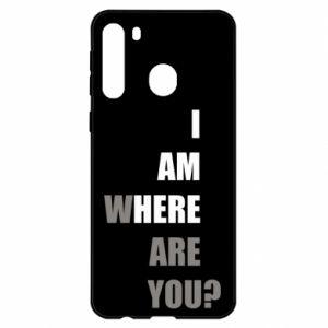 Etui na Samsung A21 I am where are you
