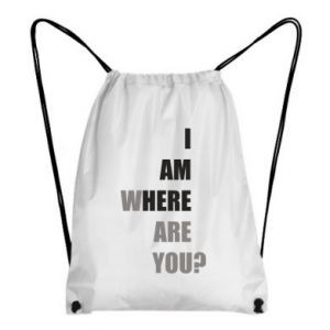 Backpack-bag I am where are you