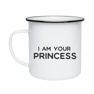 Kubek emaliowane I am your princess
