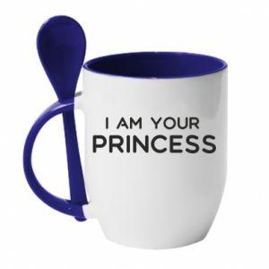 Kubek z ceramiczną łyżeczką I am your princess