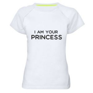 Damska koszulka sportowa I am your princess