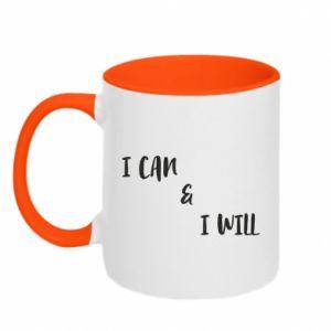 Kubek dwukolorowy I can & I will
