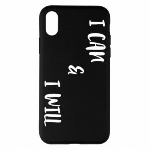 Etui na iPhone X/Xs I can & I will