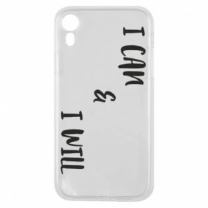 Etui na iPhone XR I can & I will