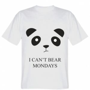 T-shirt I can't bear mondays - PrintSalon