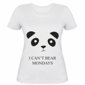 Women's t-shirt I can't bear mondays - PrintSalon