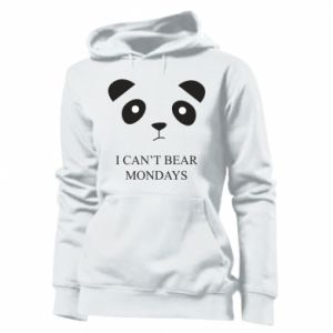 Women's hoodies I can't bear mondays - PrintSalon