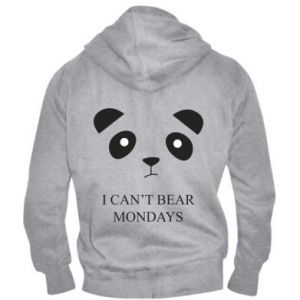 Men's zip up hoodie I can't bear mondays - PrintSalon