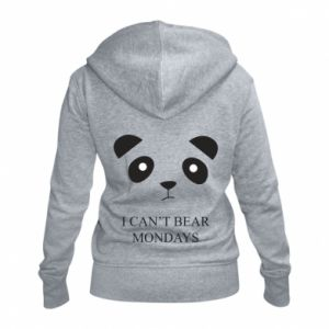 Women's zip up hoodies I can't bear mondays - PrintSalon
