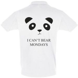 Men's Polo shirt I can't bear mondays - PrintSalon