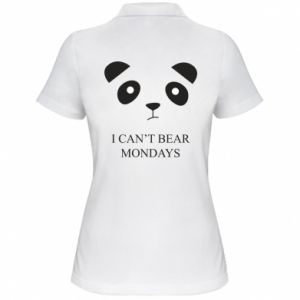 Women's Polo shirt I can't bear mondays - PrintSalon