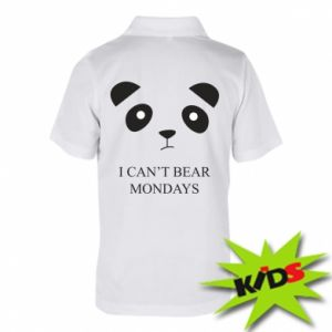 Children's Polo shirts I can't bear mondays - PrintSalon