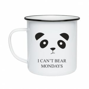 Enameled mug I can't bear mondays - PrintSalon