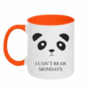Two-toned mug I can't bear mondays - PrintSalon