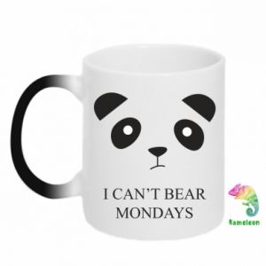 Chameleon mugs I can't bear mondays - PrintSalon