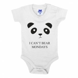 Baby bodysuit I can't bear mondays - PrintSalon