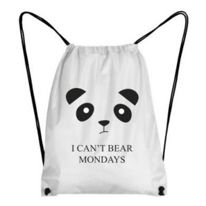 Backpack-bag I can't bear mondays - PrintSalon