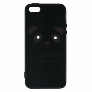 Phone case for iPhone 5/5S/SE I can't bear mondays - PrintSalon
