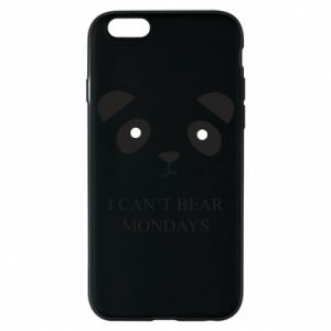 Phone case for iPhone 6/6S I can't bear mondays - PrintSalon