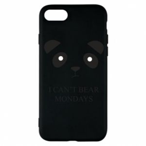 Phone case for iPhone 7 I can't bear mondays - PrintSalon