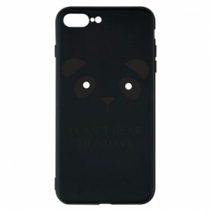 Phone case for iPhone 8 Plus I can't bear mondays - PrintSalon