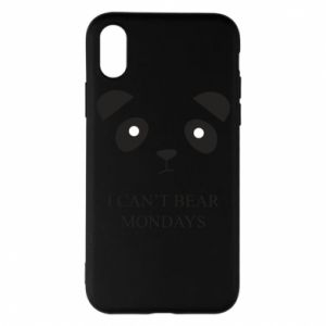 Phone case for iPhone X/Xs I can't bear mondays - PrintSalon