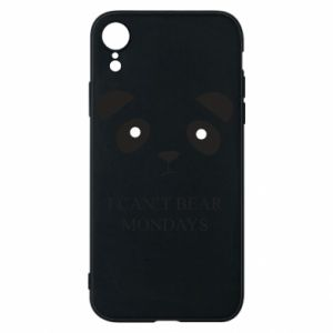 Phone case for iPhone XR I can't bear mondays - PrintSalon