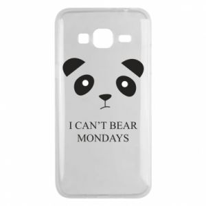 Phone case for Samsung J3 2016 I can't bear mondays - PrintSalon