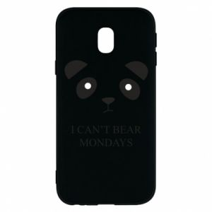 Phone case for Samsung J3 2017 I can't bear mondays - PrintSalon