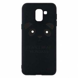 Phone case for Samsung J6 I can't bear mondays - PrintSalon