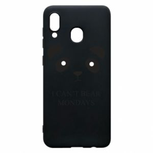 Phone case for Samsung A20 I can't bear mondays - PrintSalon