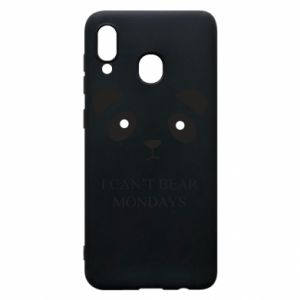 Phone case for Samsung A30 I can't bear mondays - PrintSalon