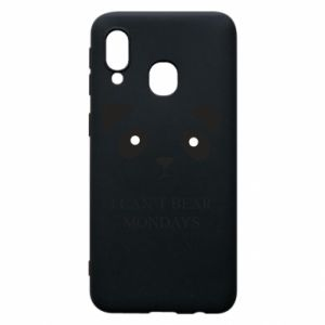 Phone case for Samsung A40 I can't bear mondays - PrintSalon
